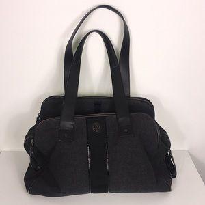 Lululemon Black/Grey Yoga/Gym Wool Duffle Bag